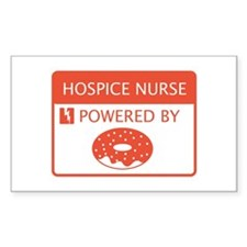 Hospice Nurse Powered by Doughnuts Decal