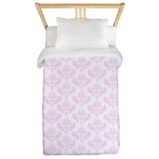 Pink Damask Twin Duvet