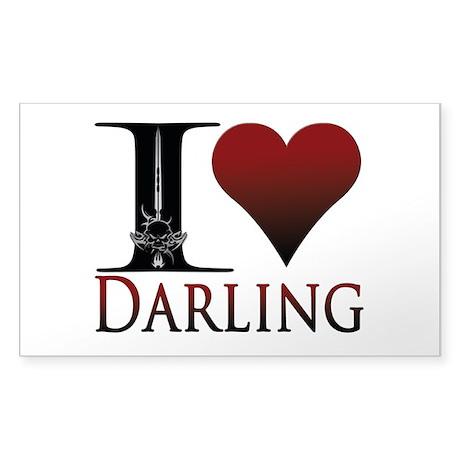 I Heart Darling Sticker (Rectangle)