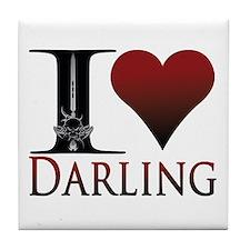 I Heart Darling Tile Coaster