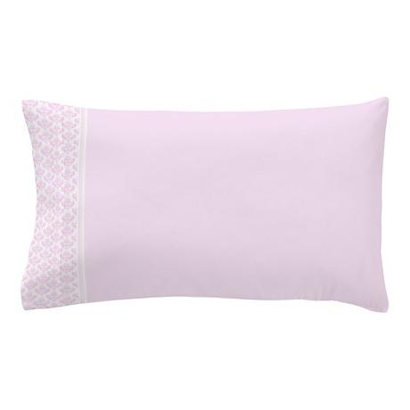 Pink Damask Pillow Case