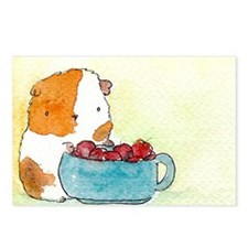 Guinea with Cherries Postcards (Package of 8)