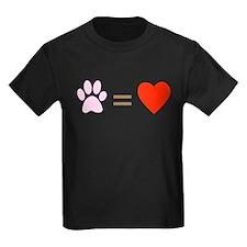 Paw = heart T
