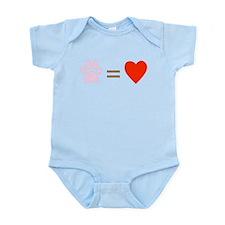 Paw = heart Infant Bodysuit