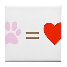 Paw = heart Tile Coaster