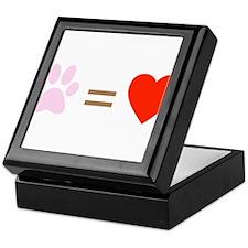 Paw = heart Keepsake Box