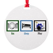 Eat Sleep Drums Ornament