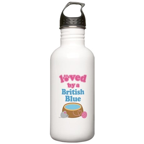 Loved By A British Blue Stainless Water Bottle 1.0