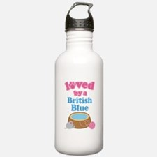 Loved By A British Blue Water Bottle