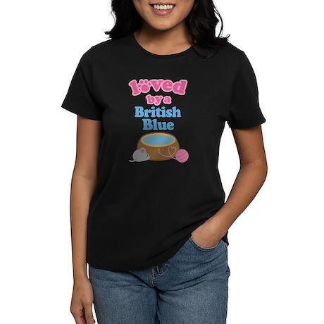 Loved By A British Blue Women's Dark T-Shirt