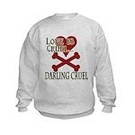 Love is Cruel Kids Sweatshirt
