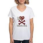 Love is Cruel Women's V-Neck T-Shirt