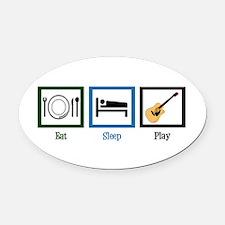Eat Sleep Guitar Oval Car Magnet