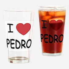 I heart PEDRO Drinking Glass