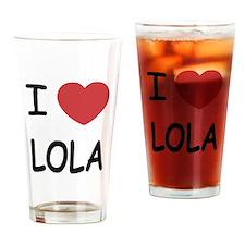 I heart LOLA Drinking Glass