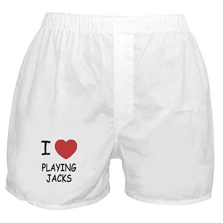 I heart playing jacks Boxer Shorts