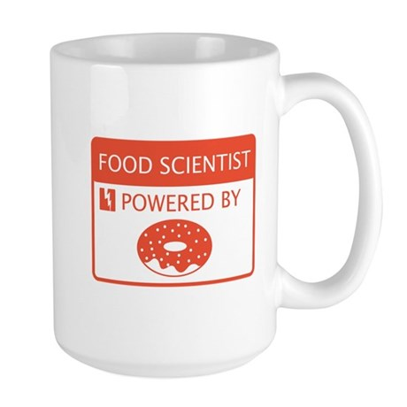 Food Scientist Powered by Doughnuts Large Mug