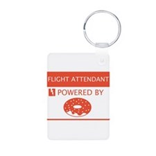 Flight Attendant Powered by Doughnuts Keychains