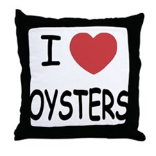 I heart oysters Throw Pillow