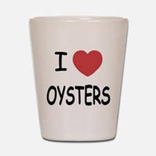 I heart oysters Shot Glass