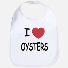 I heart oysters Bib