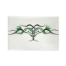 Abstract Feline Back Tattoo Rectangle Magnet