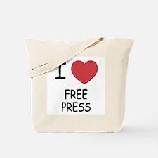 I heart free press Tote Bag