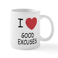 I heart good excuses Mug