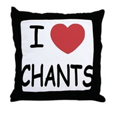 I heart chants Throw Pillow