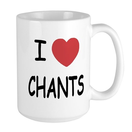 I heart chants Large Mug