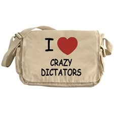 I heart crazy dictators Messenger Bag