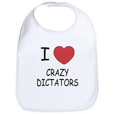 I heart crazy dictators Bib