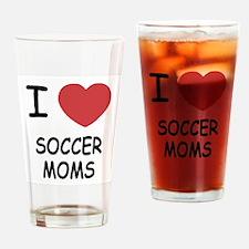 I heart soccer moms Drinking Glass
