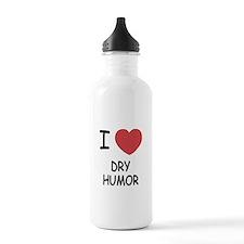 I heart dry humor Water Bottle