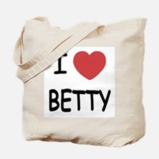 I heart BETTY Tote Bag