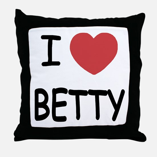 I heart BETTY Throw Pillow