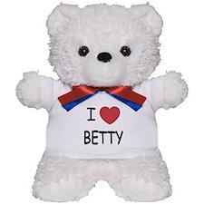I heart BETTY Teddy Bear