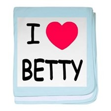 I heart BETTY baby blanket