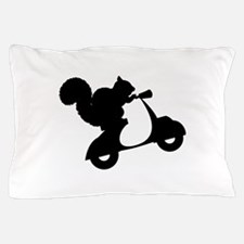 Squirrel on Scooter Pillow Case