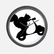 Squirrel on Scooter Wall Clock