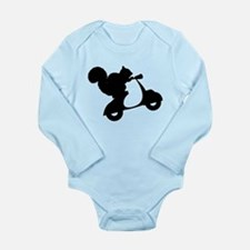 Squirrel on Scooter Long Sleeve Infant Bodysuit
