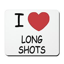 I heart long shots Mousepad