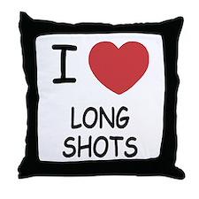 I heart long shots Throw Pillow