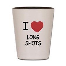 I heart long shots Shot Glass