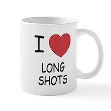 I heart long shots Small Mug
