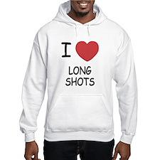 I heart long shots Hoodie