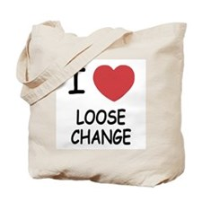 I heart loose change Tote Bag