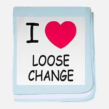I heart loose change baby blanket