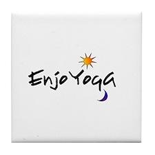 Enjoy Yoga! Tile Coaster