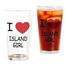 I heart island girl Drinking Glass